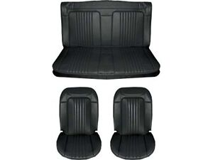 1971 1972 Chevelle Standard Seat Upholstery Full Set Coupe Black