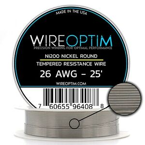 26 Awg Tempered Ni200 Nickel Wire 0 40mm 25