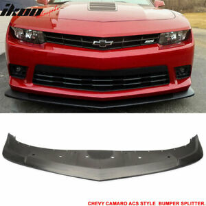 Fits 14 15 Chevrolet Camaro A Style Front Bumper Lip Chin Splitter Pu