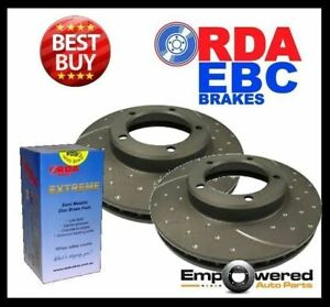 Dimpled Slotted Rear Disc Brake Rotors Pads For Mazda 3 Mps 2 3l Turbo 2006 On