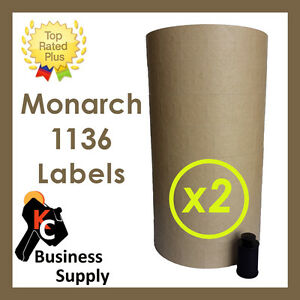 Labels For Monarch 1136 Two Line Price Gun Tan 2 Sleeves ink Roller Included
