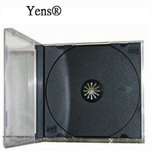 Yens 100 Pcs New Black Single Standard Cd Dvd Jewel Case 10 2mm 100 10bcd1