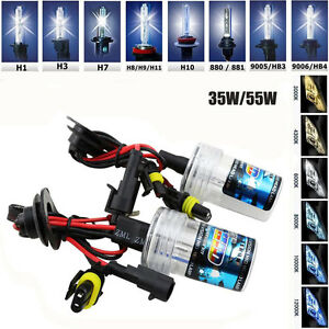 35w 55w Car Hid Xenon Headlights Replacement Bulbs H1 H3 H4 H7 H8 H11 9005 6 D1s