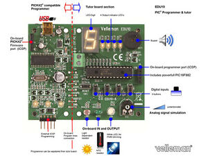 Velleman Edu10 Usb Pic Programmer And Tutor Board Kit