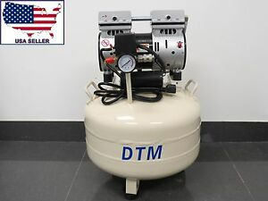 Dental Air Compressor 1 0 Hp Oil Free Tank 35 Lts 110v Dtm
