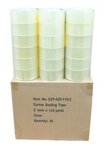 36 Rolls Clear 2 Mil Carton Shipping Box Sealing Packing Tape 2 X 110 Yards