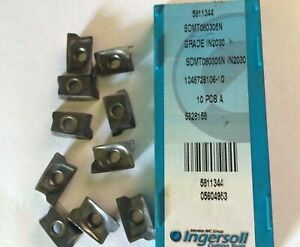 10 Pcs Ingersoll Cutting Tools Sdmt 080305 N In 2030 Lathe Carbide Inserts New