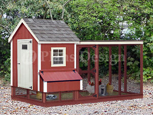 Two in one Backyard Chicken Coop Plans With Kennel Run Design 60410gl