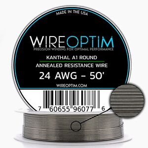 24 Gauge Awg Kanthal A1 Wire 50 Length Ka1 Wire 24g Ga 0 51 Mm 50 Ft