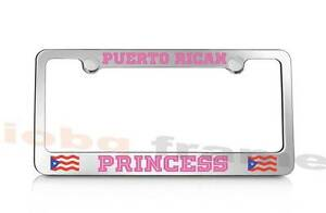 Puerto Rican Princess Puerto Rico Pink Supreme License Plate Frame Free Caps