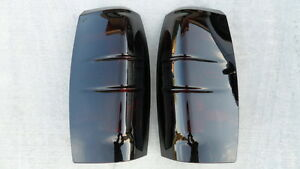 07 13 Avalanche Smoked Tail Lights Black Custom Tinted Painted Non Led