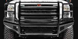 Fab Fours Fs05 S1260 1 Full Guard Blk Steel Replacement Bumper For Ford F250 550