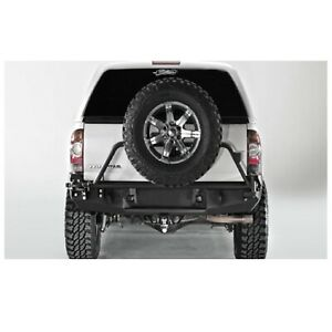 Fab Fours Tt05 Y1351 1 Black Steel Rear Bumper For Toyota Tacoma