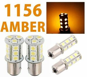 1156 Ba15s 18 Smd 5050 Yellow Amber Tail Turn Signal 18 Led Car Light Bulb Lamp