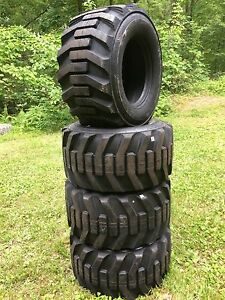4 33x15 5 16 5 Hd 14 Ply Skid Steer Tires 33x15 50 16 5 Galaxy For Bobcat etc