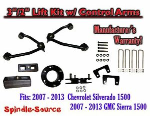 2007 13 Chevy Silverado Gmc Sierra 1500 3 Inch 2 Control Arm Lift Kit