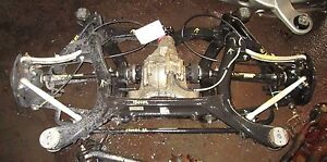 Complete Rear End Suspension Axle Differential 4 5l Porsche Cayenne Turbo 03 06