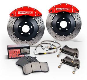 Stoptech Red Front Brake Pad Kit Calipers Drilled Rotors For 1995 99 Bmw M3