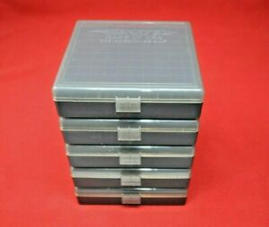45 ACP  40  10MM (5 X PLASTIC AMMO BOXES SMOKE COLOR) BERRY'S MFG BRAND NEW