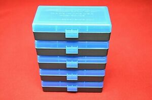 BERRY'S PLASTIC AMMO BOXES (5 BLUE) 50 Round 40 S&W  45 ACP - FREE SHIPPING