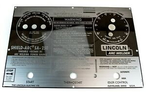 Lincoln Sa 250 Mirrored Stainless Steel Face Plate code Below 8900 Bw894