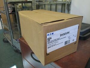 Eaton Non fusible 3r Safety Switch Dh262urk 60a 600v 2p New Surplus