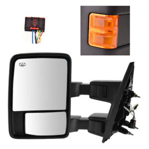 Driver Side Mirror For Ford F250 F350 F450 Power Heated Towing W Signal Orange