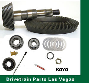 Ford 8 8 10 Bolt 4 56 Ring And Pinion Gear Set Pinion Install Kit Pkg Front Rev