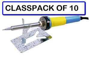 classpack Of 10 Velleman Vtsc30n1u Ceramic Soldering Iron 30w 110v And Stand