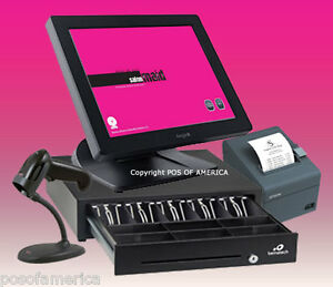 Posiflex Pos Maid For Salon Spa All in one Station Complete Bundle New