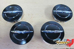 2013 2014 Chrysler 200 Black Chrome Wheel Center Caps Set Of 4 Mopar Oem