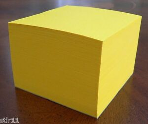 Note Paper Cube Padded Cube astrobright Solar Yellow 3 1 2 X 3 1 2