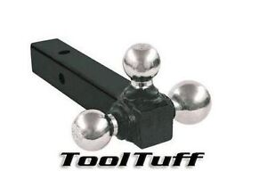 Tri Ball Hitch 3 Way Solid Shank 1 7 8 2 2 5 16 In Triple Towing Ball Mount