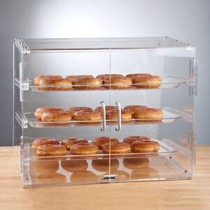 Pastry Self Serve Display Case 3 Tray Bakery Deli Store Candy Donut 10 Rebate