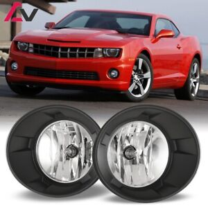 10 13 For Chevy Camaro Clear Lens Pair Oe Fog Light Lamp Wiring Switch Kit Dot