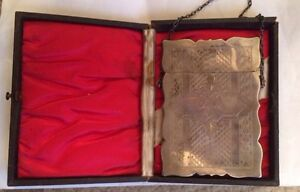 Antique 19c Gorham Solid Sterling Silver Brightcut Calling Card Case In Box