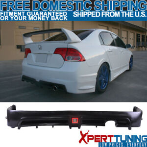 Fit 06 11 Civic 4dr Sedan Mug Rr Rear Bumper Lip Spoiler Led 3rd Brake Light