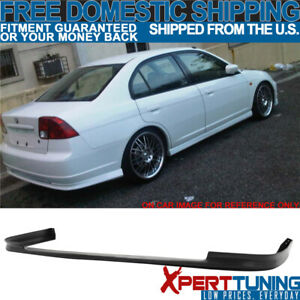 Fits 2001 2003 Honda Civic 4dr Sedan Polypropylene Rear Bumper Lip Spoiler