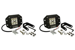2x 5 24 W Watt Led Flush Mount Flood Light Cree Off Road Driving Fog