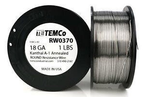 Temco Kanthal A1 Wire 18 Gauge 1 Lb 253 Ft Resistance Awg A 1 Ga