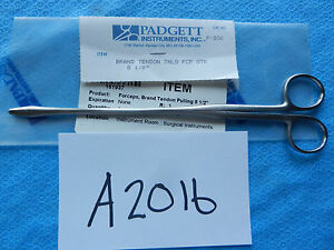 Padgett Surgical Brand Tendon Pulling Forceps 8 1 2 P 202 New