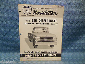 1958 Ford Truck Features Original Dealer Salesmans Newsletter