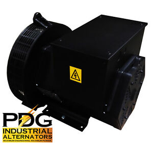 Generator Alternator Head 184g 30 Kw 3 Phase Sae 4 7 5 120 240v Pdg Industrial