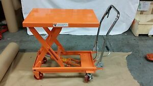 Hydraulic Scissor Lift Table Work Cart 1000 Lb Capacity Ships Free Garage Shop