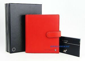 Montblanc Meisterstuck Red Leather Small Organizer 101760 Made In Germany New 3