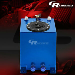 2 5 Gallon Blue Coated Universal Racing drifting Fuel Cell Gas Tank level Sender