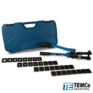 Temco 6 Ga 600 Mcm Hydraulic Lug Crimper Tool Electrical Terminal Cable Wire