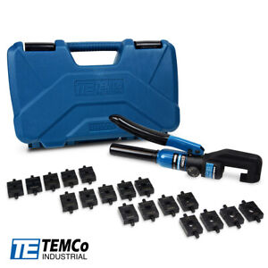 Temco Hydraulic Cable Lug Crimper Th0006 V2 0 12 Awg To 00 2 0 Cable Wire