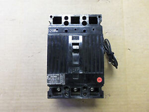Ge Ted Ted136050 3 Pole 600v 50 Amp Circuit Breaker 24v Shunt Black Face Flawed