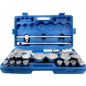26 Pc 3 4 And 1 Inch Drive Ratchet Socket Extension Set 21 65mm Heavy Duty